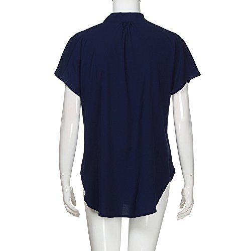 Femmes Doux DContract Chemisier Soie de Marine Mousseline D'T VTements Courtes Tops en Trydoit T Manches Shirt H7qcaBd7