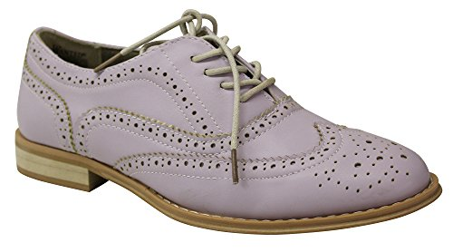 Wanted Shoes Women's Babe Oxford, Lilac, 9 M US