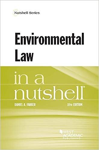 Environmental Law in a Nutshell