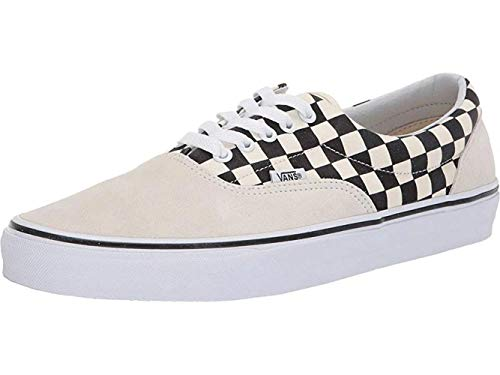 Vans Mens U ERA Primary Check Marshmallow Black Size -