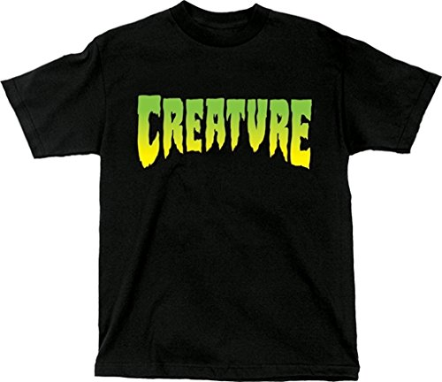 Creature Skateboards Logo Black Medium T-Shirt by Creature Skateboards