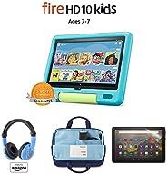 "Fire HD 10 Kids tablet, 10.1"" Full HD (32GB, Aquamarine) with Kids Headset + Sleeve + Screen Prot"
