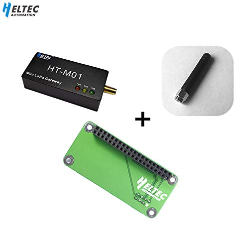 Mini IOT Lora Gateway LoraWan SX1301 sx1255/57 lora 8 Channel 915MHZ for Gateway Integrated for Raspberry Pi with esp32 lora node/stm32 lora Node (Package C)