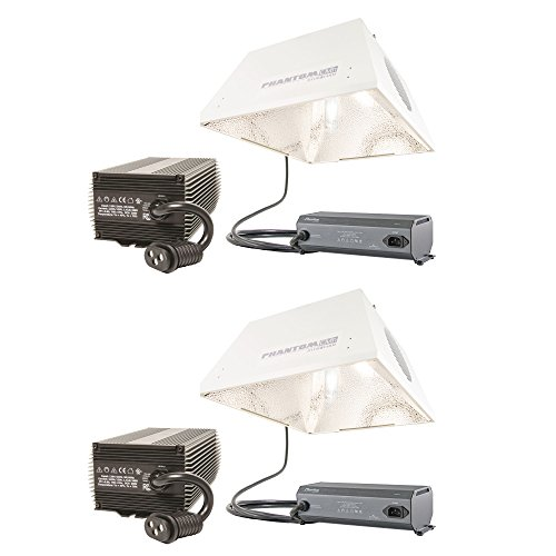 Phantom Hydroponics 4200K 315W CMh Reflector, Ballast and Lamp Kit, 2 Pack (Phantom Kit Ballast)
