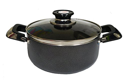 Modin Hard-Anodized Aluminum Sauce Pot,Nonstick Cookware,with Glass Lid and Two Rivated Handles,2-quart, 7inch Dia, ()