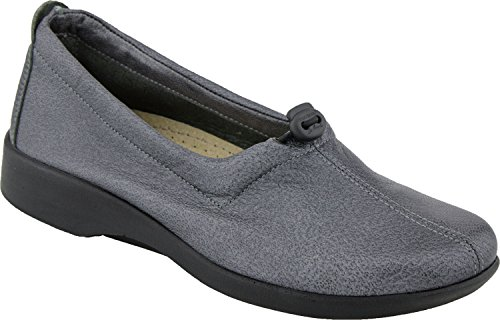Arcopedico Womens QUEEN II Slip-on (7851) Pewter Size 39 EU (8.5-9 M US Women) (Queen Of Hearts Shoes)