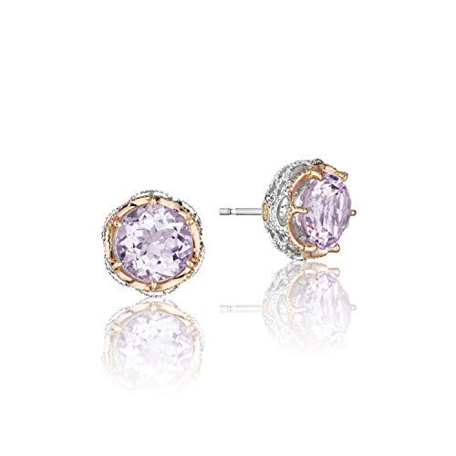 (Tacori SE105P13 Crescent Crown Rose Amethyst stud-earring 925)