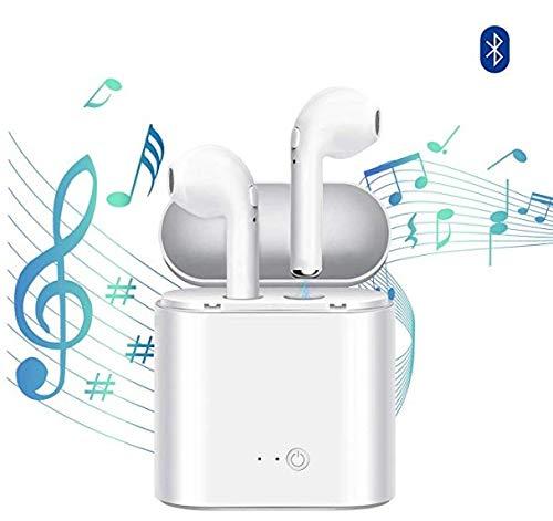 Wireless Headphones,Sport Earphones,Wireless Earbuds,MIYAY Headphones Stereo in-Ear Earphones Hands Free Noise Cancelling for Smart Phones. (White)