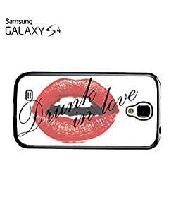 Drunk in Love Sexy Red Lips Mobile Cell Phone Case Samsung Galaxy S4 White