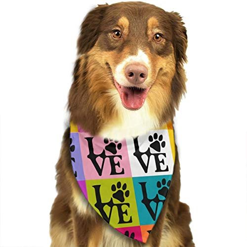 Dog Paws Pop Art Fashion Dog Bandana Pet Dog Cat Neckerchief Dog Scarf -