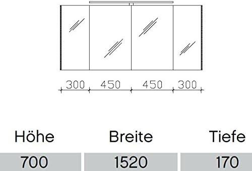 Pelipal S10 - Armario espejo neutro /S10-SPS 28/Comfort N/152 x 70 x 17 cm/A +: Amazon.es: Hogar