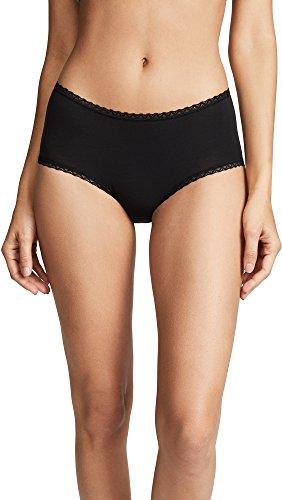 Cosabella Women's Soft Cotton Hotpants, Black, Small