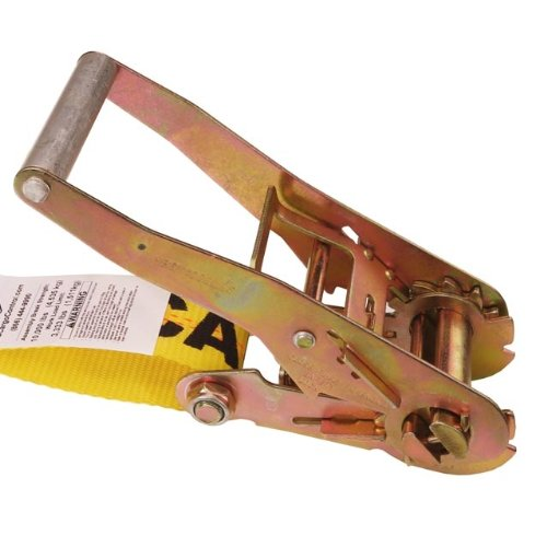 2'' X 50' Ratchet Tie Down Strap with Long, Wide Handle & Flat Hooks by US Cargo Control (Image #1)