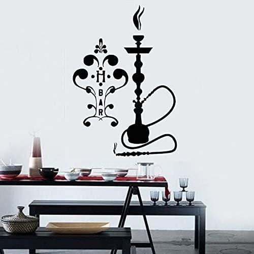 ganlanshu Calcomanías de Pared con Logo de cachimba calcomanías Decorativas de Estilo árabe Pegatinas de Pared de Vinilo extraíble decoración del hogar Sala de Estar Barra de Humo 82cmx57cm: Amazon.es: Hogar