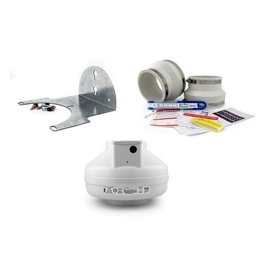 System Radonaway - RadonAway RP260 Radon Fan + Installation Kit + Mounting Bracket