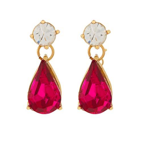 Accessorize London Brass Pink Mini Kylie Short Dro Drop Earrings for Women  MN 88110470001