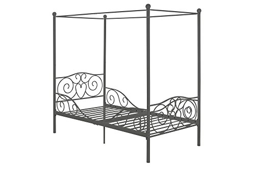 DHP Canopy Metal Bed Frame, Twin Size, Silver by DHP