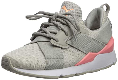 PUMA Girls' Muse Sneaker, Gray Violet-Bright Peach- White, 6.5 M US Big ()