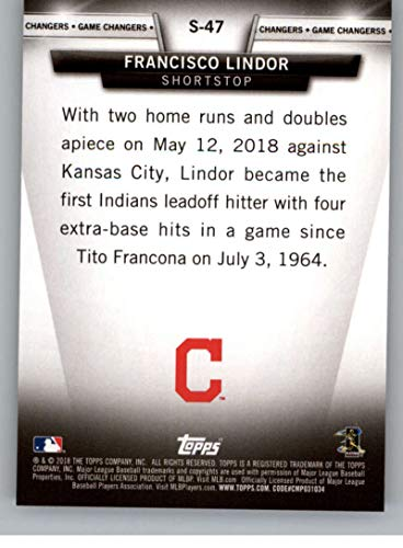 5029fde79 Amazon.com  2018 Topps Update and Highlights Baseball Series Salute  S-47  Francisco Lindor Cleveland Indians Official MLB Trading Card  Collectibles    Fine ...