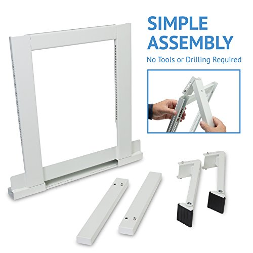 Ivation Window Air Conditioner Mounting Support Bracket – Easy To Install Universal AC Mount, No Tools Required – Heavy Duty Steel Construction Holds Up To 200 lbs – Fits Single Or Double Hung Windows by Ivation (Image #4)