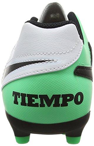 Nike Tiempo Rio Iii Fg, Botas de Fútbol Unisex Niños Varios colores (White / Black / Electro Green)