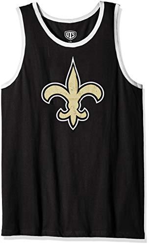 - NFL New Orleans Saints Male NFL OTS Cotton Tank Distressed, Jet Black, Large