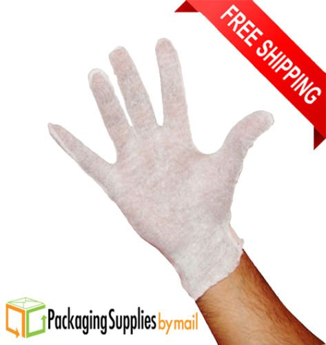 Cotton Gloves Lisle Inspection - Women 4 Dozen by PackagingSuppliesByMail