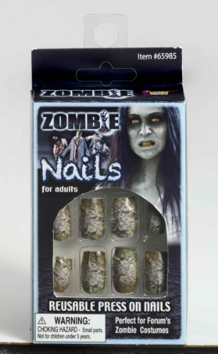 Zombie Fake Finger Nails (Halloween Themed Manicure)