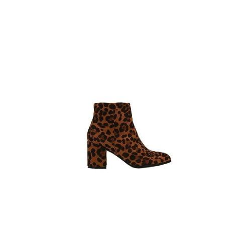 Botín tacón Alto Animal Print Leopardo: Amazon.es: Zapatos y complementos