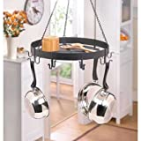 Kitchen Ceiling Mounted Pot And Pans Lid Rack Home Bar Storage Iron Shelf Hanging Holder Hooks Decorative