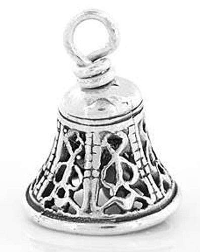 - Charm - Sterling Silver - Jewelry - Pendant - Filigree Style Wedding Bell