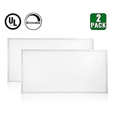 HIKETOLIGHT LED Troffer Flat Panel Light Ultra Thin Ceiling Edge-Lit Dimmable UL Listed and DLC Premium 4.2 Qualified
