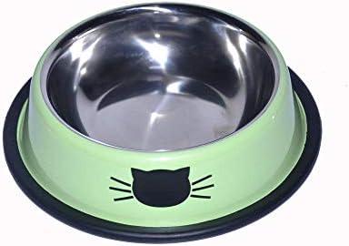 FGHOMEAQWSQ Reptil Cabeza de Gato Avatar Cuenco de Acero ...