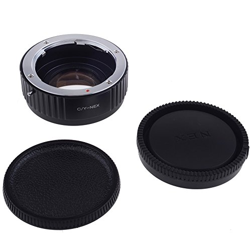 Neewer® Lens Mount Adapter with Optical Glass for Contax/Yashica C/Y lens to Sony Alpha NEX E-Mount Camera, fits Sony NEX-3 NEX-3C NEX-3N NEX-5 NEX-5C NEX-5N NEX-5R NEX-5T NEX-6 NEX-7 NEX-F3 NEX-VG10 VG20