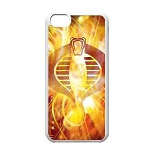 Back Skin Case Shell iPhone 5C Cell Phone Case White brosok kobry gi joe igry Gyudv Pattern Hard Case Cover