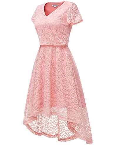 Hi Encaje Noche Fiesta Vestido Coctel Blush Vestido para de Encaje de Mujer Bbonlinedress Honor Mujeres Elegante Dama de Vestido Floral lo 8qvAYg