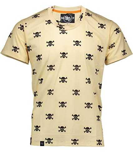 - Brooklyn Standard Men's Ultra Soft All Over Print T-Shirt Mini Skull Crossbones Medium