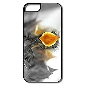 IPhone 5/5S Hard Plastic Cases, Baby Birds Hungry White/black Case For IPhone 5 5S