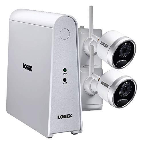 Lorex 6-Channel, 2-Camera Indoor/Outdoor Wire Free 1080p DVR Surveillance System White LHWF16G32C2B