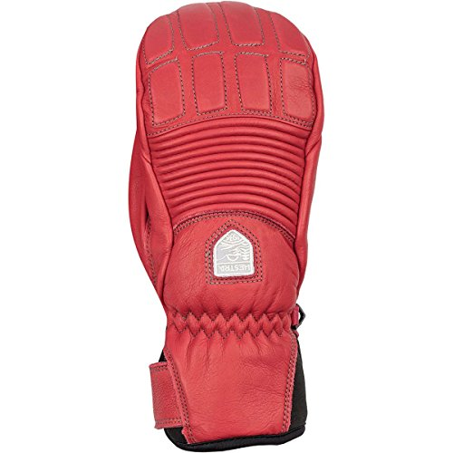Hestra Gloves 30211 Women's Leather Fall Line Mitt, Red/Red - 9 by Hestra