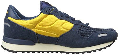 Skechers Originales Retros Cormac Ajuste cómodo Cormac zapatilla de deporte de moda Navy/Gold