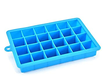 Molde de hockey sobre hielo, molde de hielo con 24 rejillas de silicona Máquina de