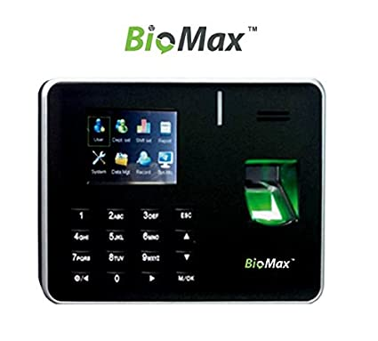BIOMAX Fingerprint Time and Attendance System Biometric Device (Black)