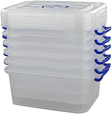 Joycky Caja De PláStico PequeñA, Transparente Caja Plastico y Tapa ...