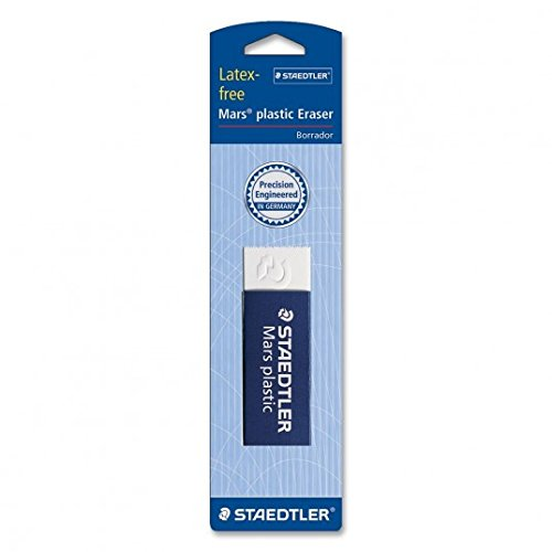 Staedtler Mars Latex-Free Eraser, White, 1 Pack (STD52650)(3Pack) Size: 3Pack Model: Office Supply Product Store