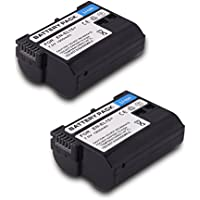 EN EL15 EN-EL15 Battery(2 pack) Replacement Li-ion Battery for Nikon 1 V1 D600 D800 D800E D810A D750 D7000 D7100 D610 D7200 Camera (battery)