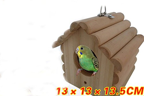 Parrot perch bird house Nest wood breeding box tree sparr...