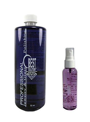 Gold Travel Costumes (Best Solution Silver Gold Diamonds Costume Jewelry Cleaner 32oz Bottle w/ 2oz Travel Spray Bottle)