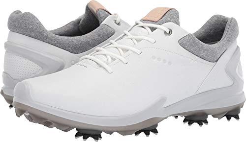 ECCO Men's Biom G3 Gore-TEX Golf Shoe, Shadow White Yak Leather, 8 M US (Ecco Golf Shoes)