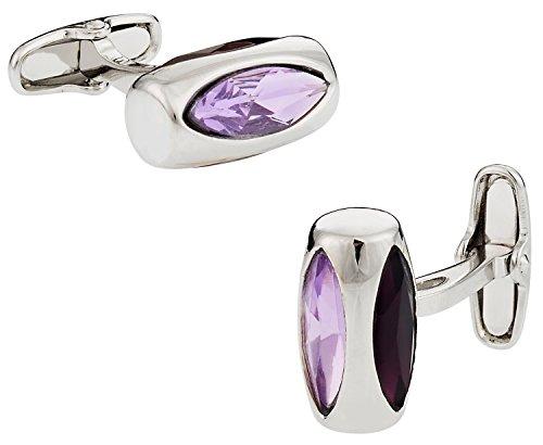 Cuff-Daddy Purple Crystal Glass Vault Cufflinks